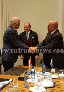 رئيس مجلس النواب مع رئيس  جمهورية جنوب أفريقيا [800x600]
